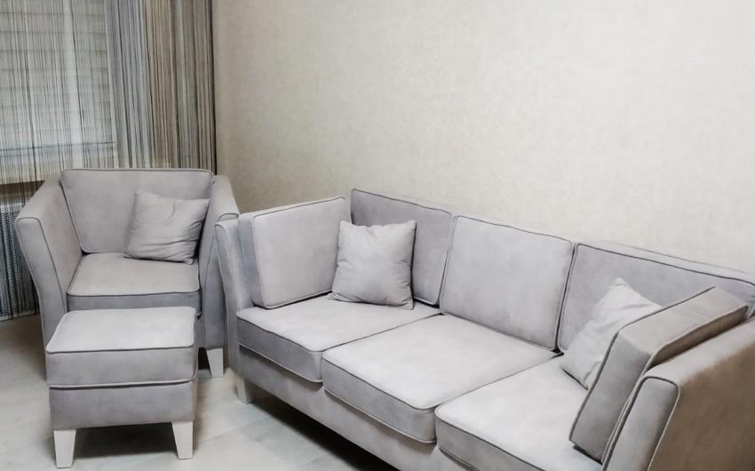 Банкетка Кроно в комплекте с диваном и креслом