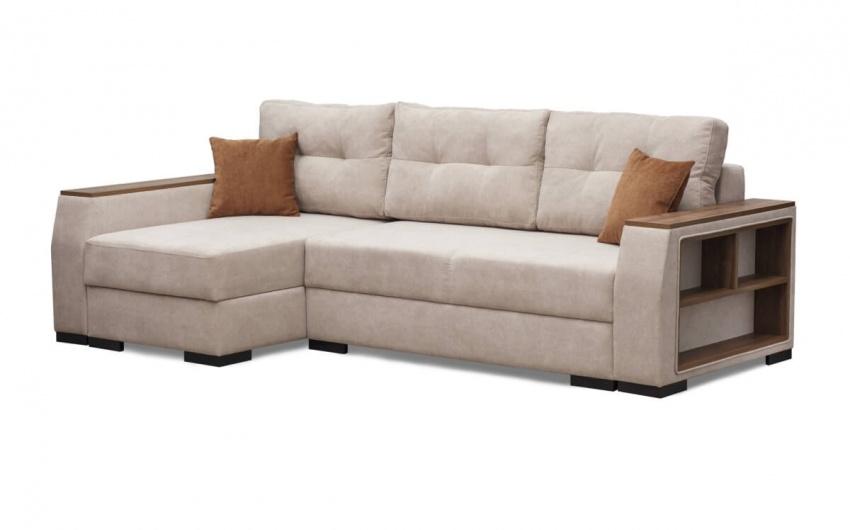 Изображение бежевый диван угловой