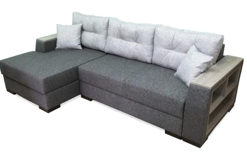 Картинка серый диван угловой