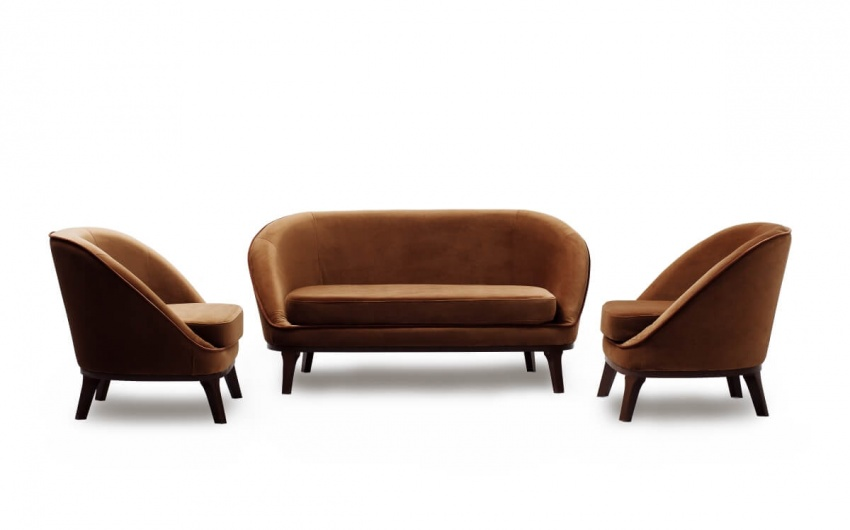 Картинка коричневого набора мебели