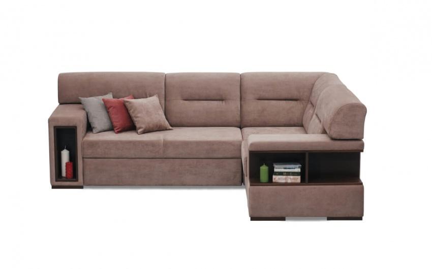 Фото дивана с полками для книг