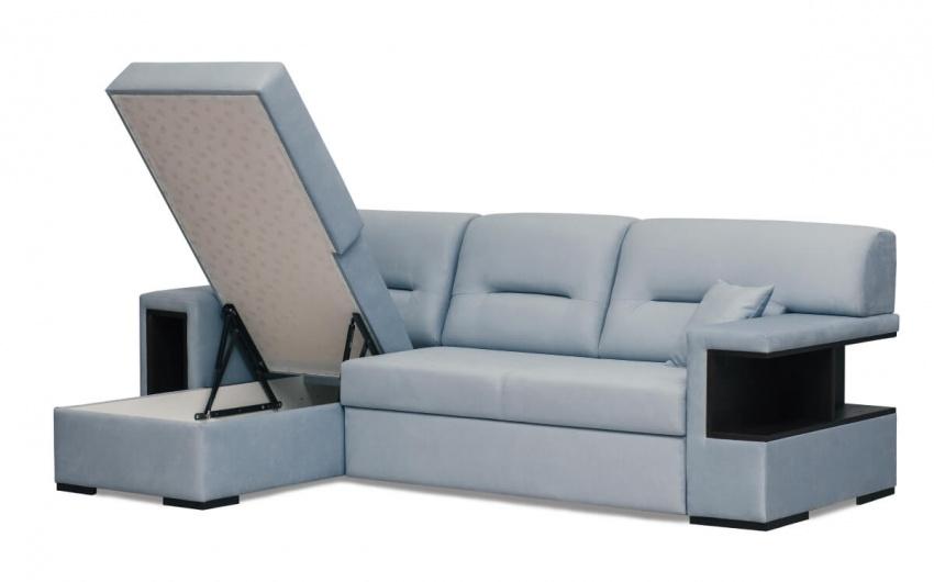 Фото диван с полками для хранения