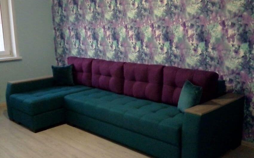 Фото диван фиолетово-зеленый